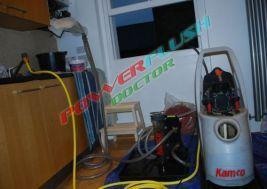 powerflush in progress